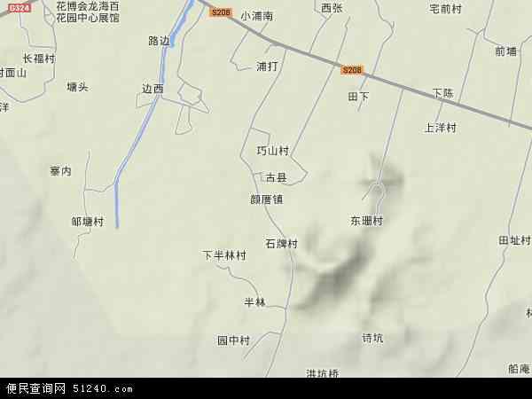 中国福建省漳州市龙海市颜厝镇地图(卫星地图)