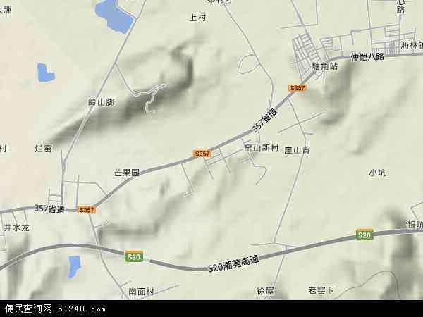 窑山村地图 - 窑山村卫星地图 - 窑山村高清航拍地图