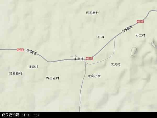 中国海南省省直辖县级行政区划儋州市雅星镇地图
