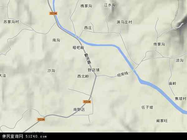 中国山东省临沂市蒙阴县野店镇地图(卫星地图)