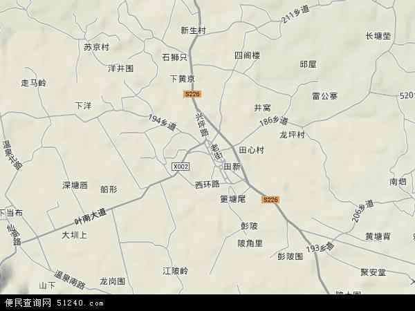 中国广东省梅州市兴宁市叶塘镇地图(卫星地图)