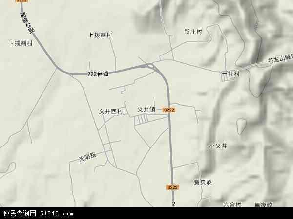 中国河北省邯郸市峰峰矿区义井镇地图(卫星地图)