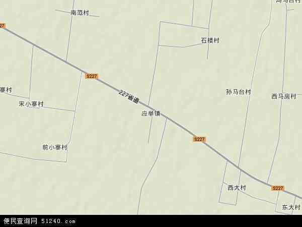 中国河南省新乡市封丘县应举镇地图(卫星地图)