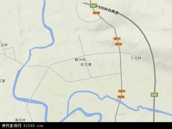中国山西省朔州市右玉县右卫镇地图(卫星地图)