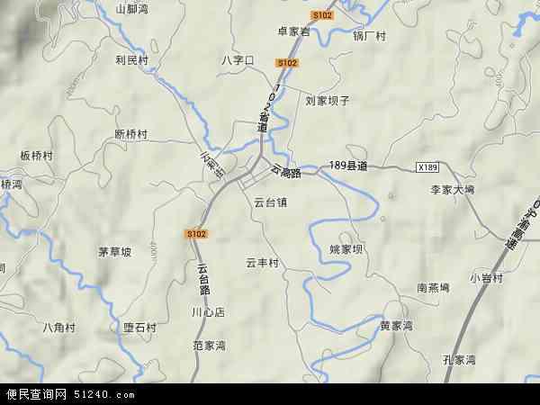 长寿区云台镇_云台镇地图 - 云台镇卫星地图 - 云台镇高清航拍地图