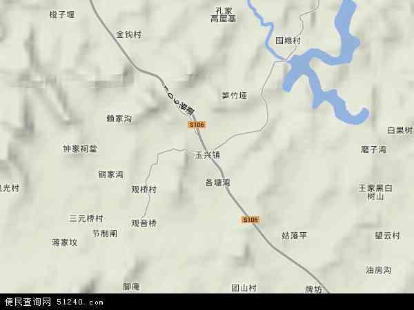 玉兴镇地图 - 玉兴镇卫星地图 - 玉兴镇高清航拍地图