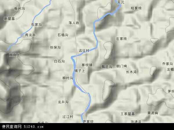 中国贵州省遵义市习水县寨坝镇地图(卫星地图)