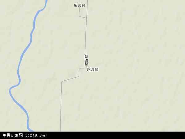 中国陕西省渭南市大荔县赵渡镇地图(卫星地图)