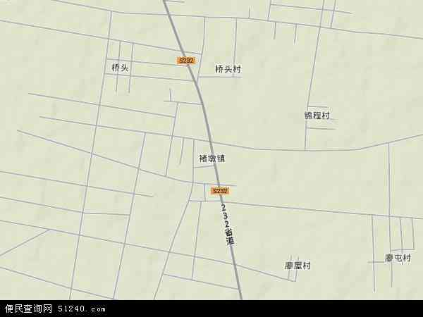 中国山东省临沂市罗庄区褚墩镇地图(卫星地图)