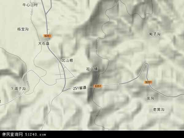 中国河北省秦皇岛市青龙满族自治县祖山镇地图
