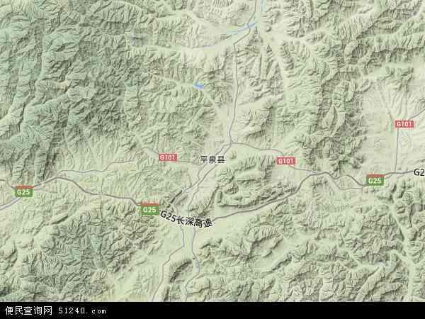 中国河北省承德市平泉县桲椤树镇地图(卫星地图)