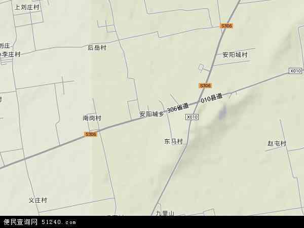 中国河南省焦作市马村区安阳城地图(卫星地图)