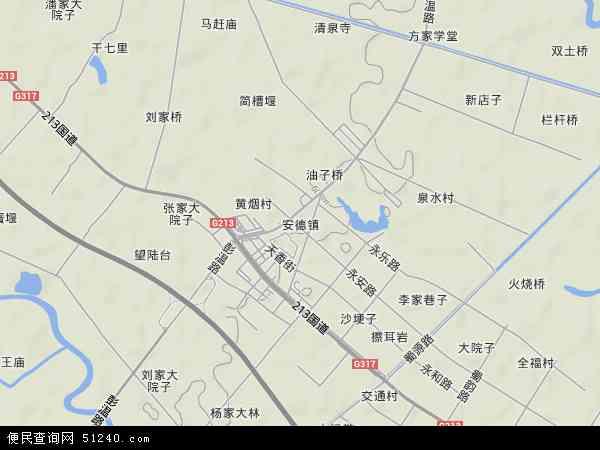 安德镇高清卫星地图 安德镇2018年卫星地图 中国四川省成都市郫县
