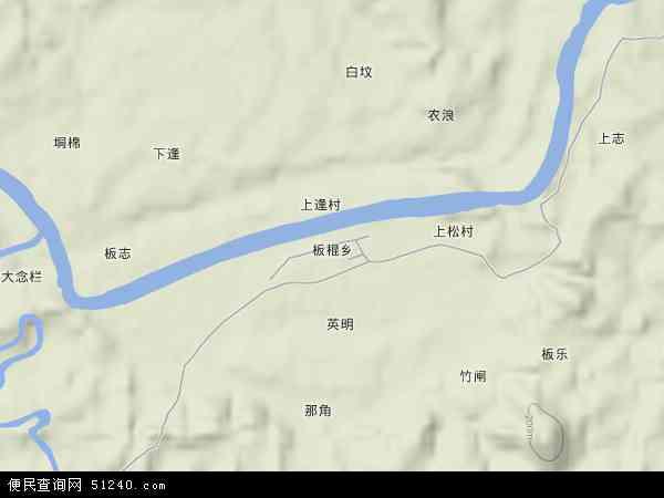 中国广西壮族自治区崇左市宁明县板棍乡地图