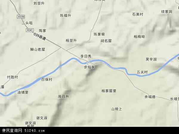 中国湖南省岳阳市岳阳县步仙乡地图(卫星地图)