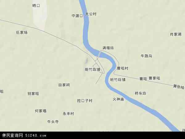 斑竹垱镇地图 - 斑竹垱镇卫星地图