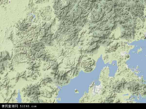 韩国全罗南道宝城郡地图(卫星地图)