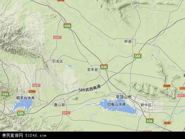 中国河南省平顶山市宝丰县地图(卫星地图)
