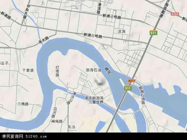 渤海石油地形地图