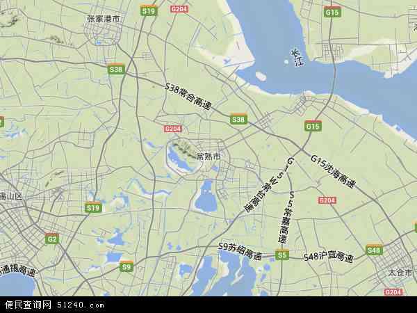 常熟市地图 - 常熟市卫星地图