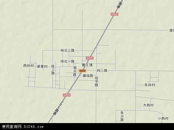 中国山东省滨州市博兴县曹王镇地图(卫星地图)