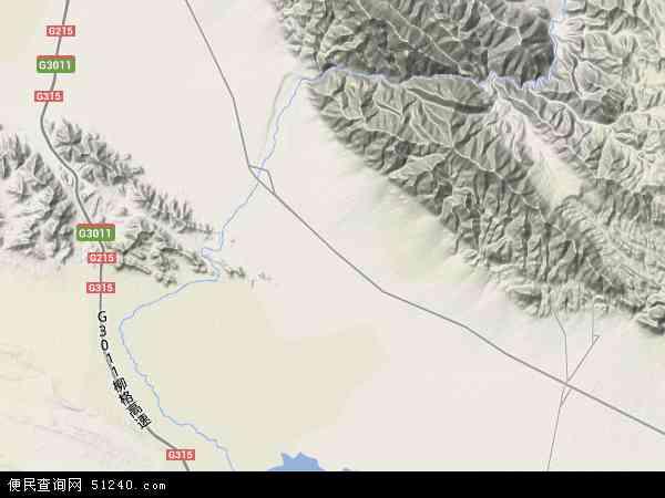 中国青海省海西蒙古族藏族自治州德令哈市柴旦镇地图(卫星地图)