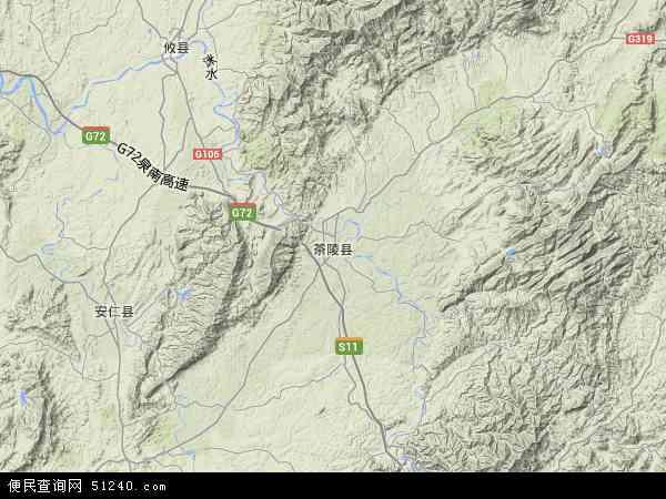 茶陵城区规划图