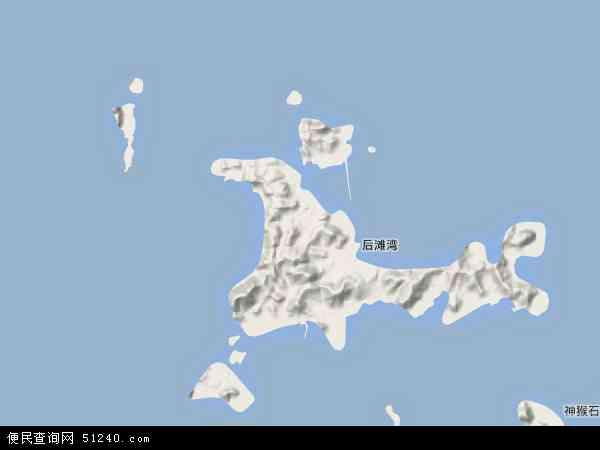 中国浙江省舟山市嵊泗县地图(卫星地图)