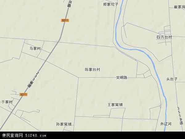 中国辽宁省盘锦市盘山县陈家镇地图(卫星地图)