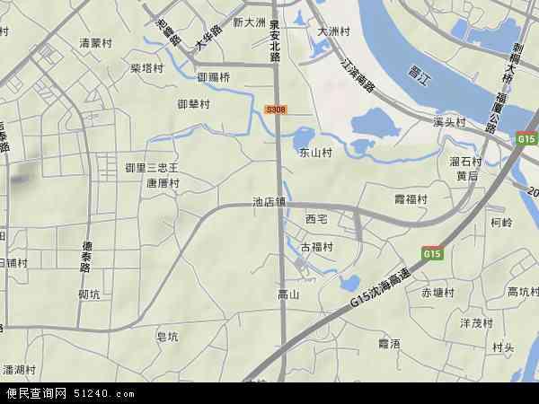 中国福建省泉州市晋江市池店镇地图(卫星地图)
