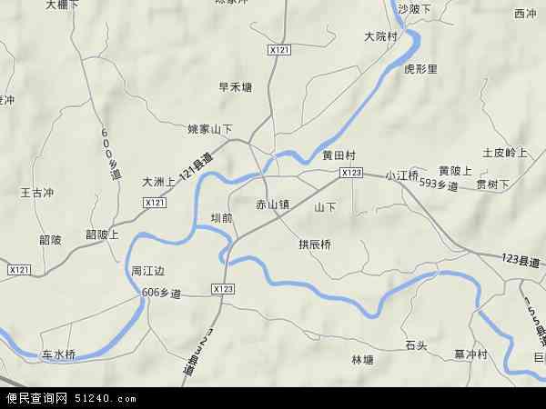 中国江西省萍乡市上栗县赤山镇地图(卫星地图)