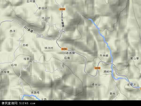 中国福建省泉州市德化县赤水镇地图(卫星地图)