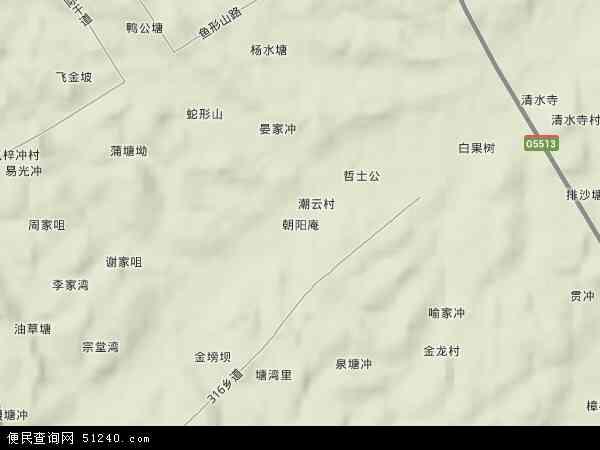 朝阳高清卫星地图 朝阳2017年卫星地图 中国湖南省益阳市赫山区朝