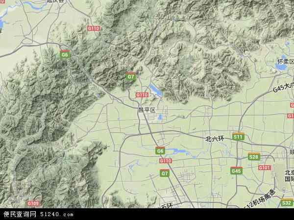 十三陵手绘地图