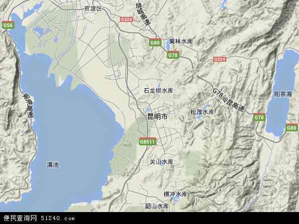 呈贡区高清卫星地图 呈贡区2016年卫星地图 中国云南省昆明市呈贡