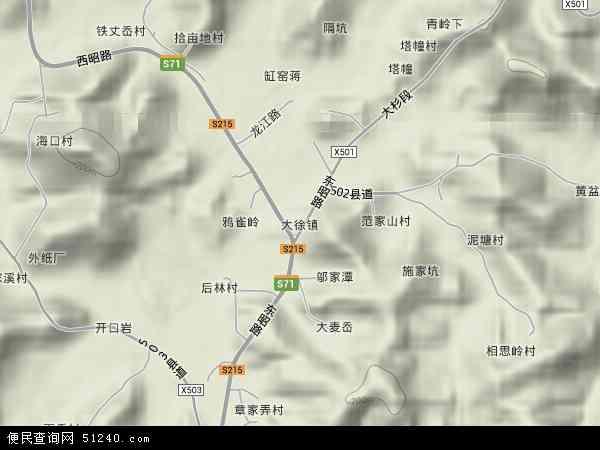 中国浙江省宁波市象山县大徐镇地图(卫星地图)