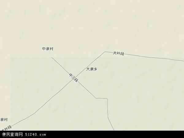 中国新疆维吾尔自治区塔城地区沙湾县大泉乡地图