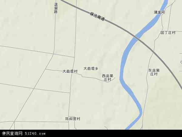 中国河北省保定市蠡县大曲堤乡地图(卫星地图)