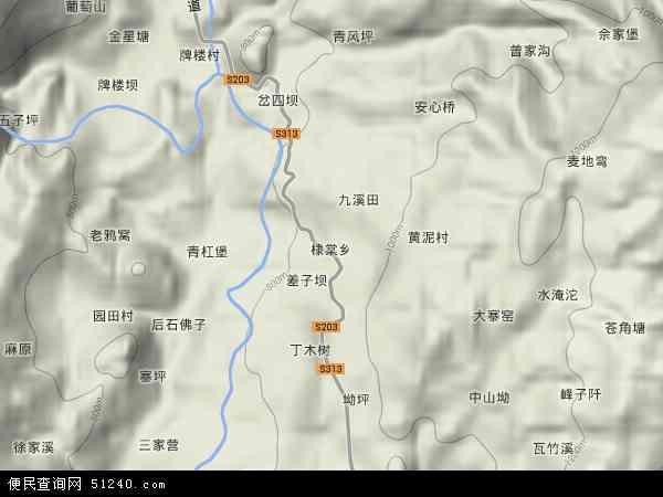棣棠乡地形图 - 棣棠乡地形图高清版 - 2018年棣棠乡地形图