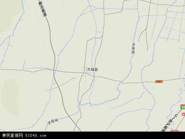 中国河北省廊坊市大城县地图(卫星地图)