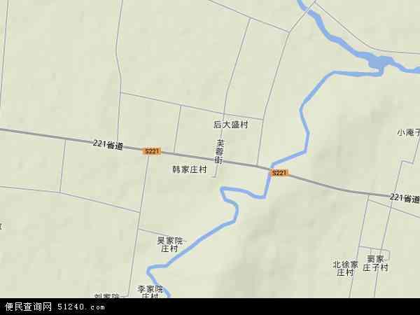 中国山东省潍坊市安丘市大盛镇地图(卫星地图)
