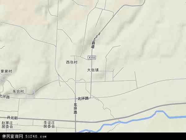 中国山西省临汾市霍州市大张镇地图(卫星地图)