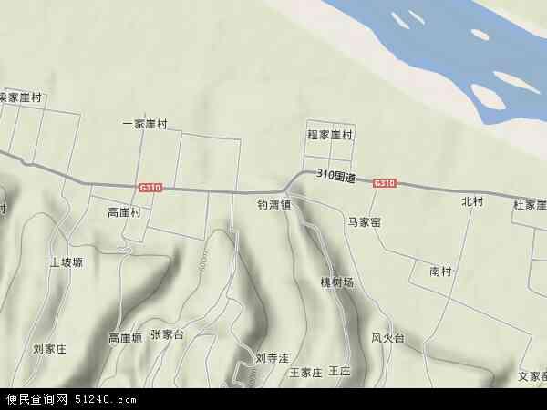 中国陕西省宝鸡市陈仓区钓渭镇地图(卫星地图)