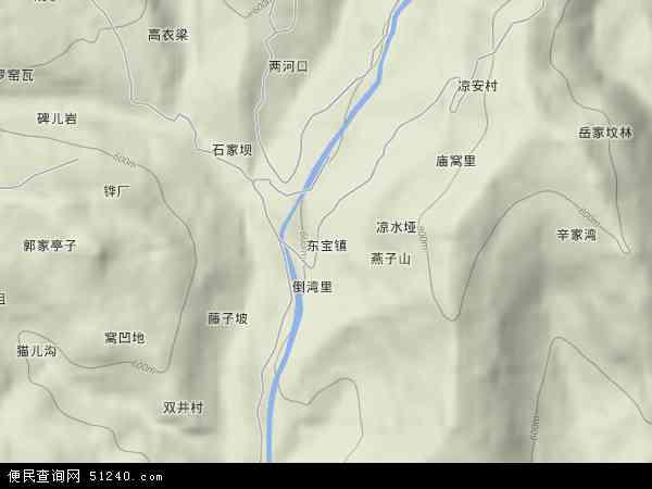 东宝镇地形地图