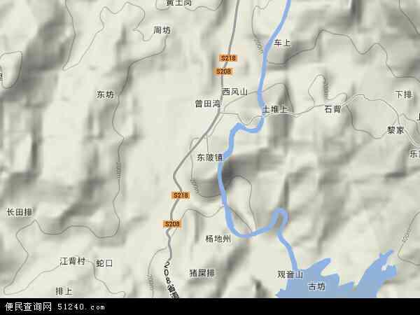 中国江西省抚州市宜黄县东陂镇地图(卫星地图)