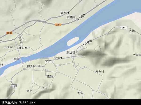 中国福建省福州市连江县东岱镇地图(卫星地图)