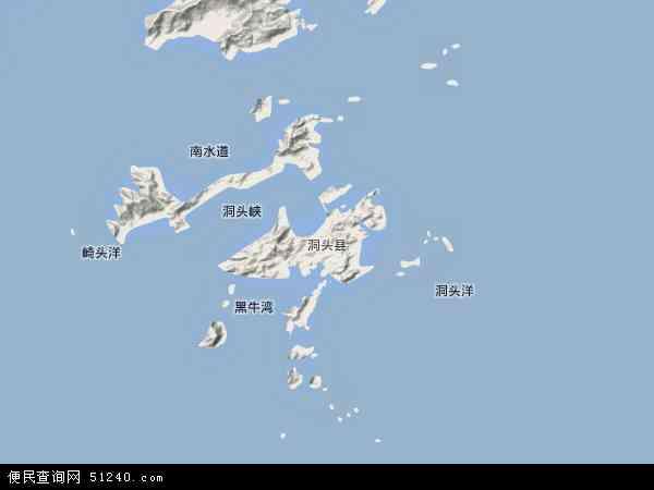 中国浙江省温州市洞头县地图(卫星地图)