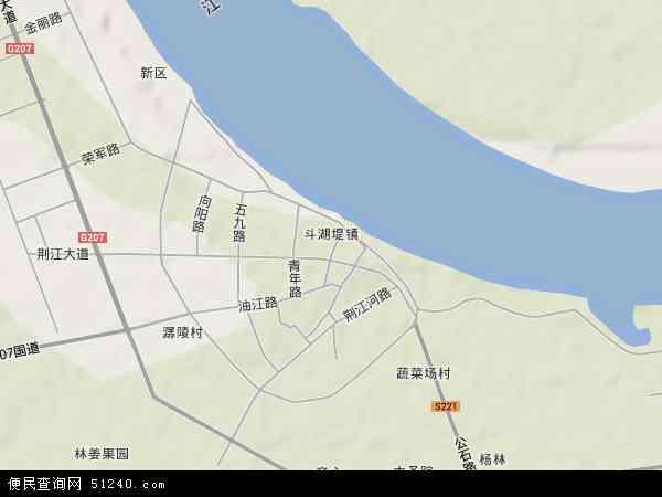 斗湖堤镇地图 - 斗湖堤镇卫星地图