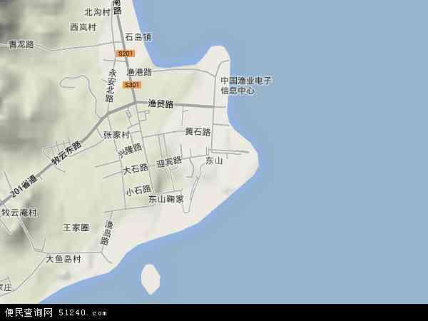中国山东省威海市荣成市东山地图(卫星地图)