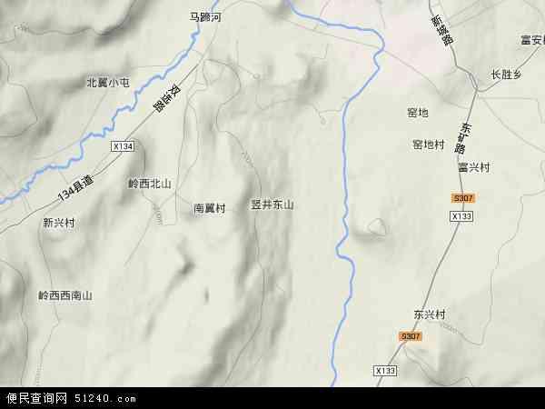 中国黑龙江省双鸭山市岭东区东山地图(卫星地图)图片
